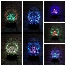 <b>Star Wars 3D</b> Night Light Mixed Color <b>LED</b> Lamp Black Warrior ...