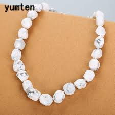 Yumten <b>White</b> Turquoise Necklace Women Jewelry Crystal ...