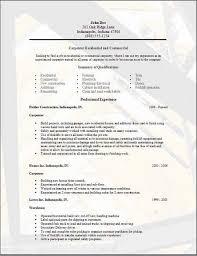 carpenter resume examples samples free edit   word