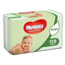 <b>Детские влажные салфетки</b> Huggies Ultra comfort алоэ, 128 шт ...
