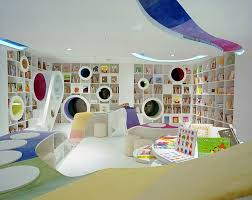modern contemporary kids play room and study design with creative built in bookshelves unique desk original home awesome home study room
