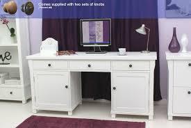 mobel oak twin pedestal computer desk gallery of hampton white twin pedestal hideaway computer desk baumhaus hidden home office