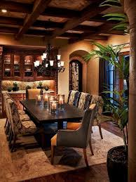 style dining room paradise valley arizona love: beautiful mission style dining room in this tuscan home