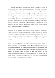 comparative essay on reading