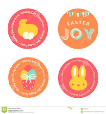 Set of Easter <b>Badges</b> stock vector. Illustration of frame - 65765365