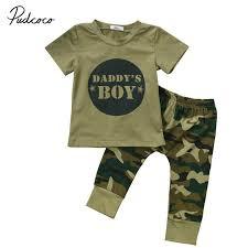 Online Shop <b>Summer Newborn Baby Boy</b> Girls Camouflage T-shirt ...