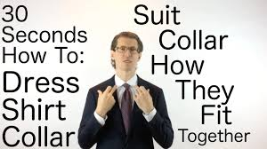 <b>Dress</b> Shirt <b>Collar</b> and <b>Suit Collar</b> How They Fit Together ...