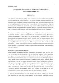 (PDF) COSMOLOGY, ENCHANTMENT <b>AND POSTMODERN</b> ...