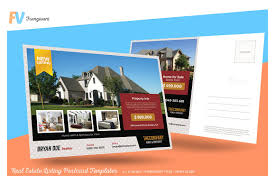 real estate listing postcard card templates on creative market