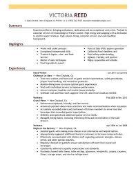 choose restaurant server sample resume
