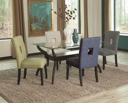Five Piece Dining Room Sets Coaster Andenne 5 Piece Glass Top Dining Table Set Value City