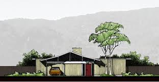 Historic mid century modern house plans for   today   Retro    Eichler House plans you can still buy today