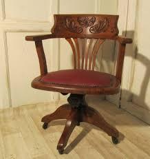 victorian art nouveau carved oak desk or office chair art deco office chair