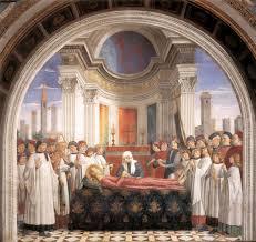 Фреска Смерть Святой Фины из Сан Джиминьяно