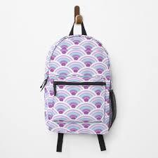"""<b>Japanese Wave</b> Pattern Seigaiha <b>Vaporwave</b> Aesthetic"" Backpack ..."