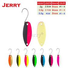 Jerry trout area <b>spoons</b> brass <b>fishing spoons fishing lures</b> hard <b>bait</b> ...