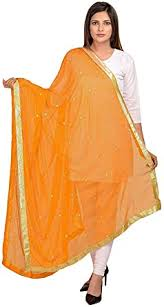 TMS Woman's <b>Embroidered Chiffon</b> Dupatta Scarf Shawl Wrap Soft ...