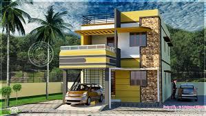 square feet Tamilnadu style house exterior   Kerala home    Tamil house design