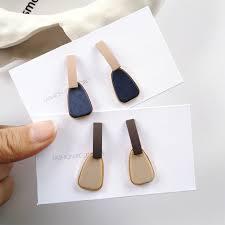 S925 Silver <b>Earrings</b> Irregular Geometric <b>Earrings</b> Hit Color <b>Korean</b> ...