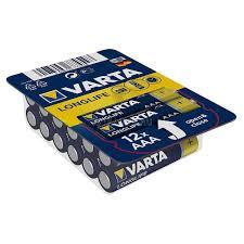 <b>Батарейки</b> LR03/AAA <b>щелочные VARTA LONGLIFE</b> big box 12шт ...