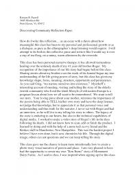 cover letter an example of a reflective essay an example of a cover letter how to write a reflective essay general writing tips how reflection paper we adnan