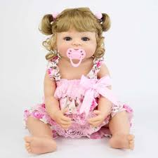 <b>55cm</b> Full Silicone Reborn Baby Doll Toy For <b>Girl</b> Vinyl Newborn ...