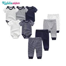 <b>9PCS</b>/<b>LOT</b> Newborn <b>Baby</b> Clothes Sets 100% Cotton Rompers+ ...