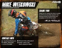 mike witkowski sponsorship com mike witkowski 2015 sponsorship resume p7