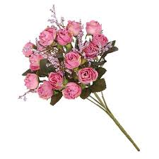 homeholiday <b>5 Branches</b> 15-head Artificial <b>Rose</b> Flower Bouquet ...