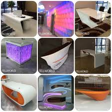 black decent modern boutique cashier counter reception counter design boutique reception counter