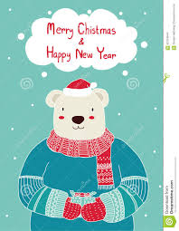 hand drawn cute bear holding gift box for christmas card templates hand drawn cute bear holding gift box for christmas card templates christmas poster vector