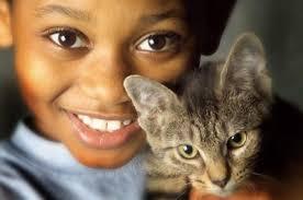 Resultado de imagen de gato con niños