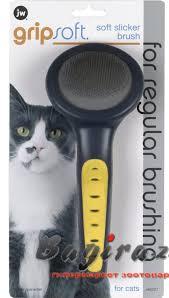 <b>J.W. Щетка</b>-пуходерка для кошек <b>Grip</b> Soft Cat Slicker Brush ...