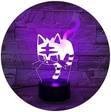 SOHOH Visual stereo <b>vision 3D</b> With Night Light Creative Acrylic <b>Cat</b> ...