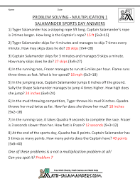 math word problems for kids salamander sports day · salamander sports day answers