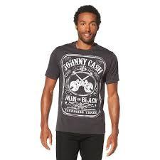 Men's <b>Johnny Cash Man</b> In Black Short Sleeve Graphic T-Shirt ...