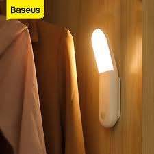 Baseus <b>Smart LED Night</b> light PIR Intelligent Motion Sensor USB ...