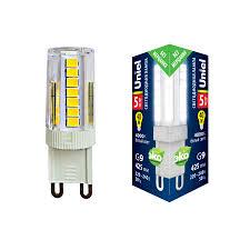 <b>Лампа</b> светодиодная (UL-00006749) <b>Uniel G9 5W 4000K</b> ...