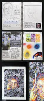 best images about sketchbooks process research pages on top in the world stunning self portraits by an a level art student
