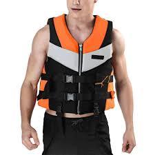 Orange Adult Life Jacket <b>Life Jackets Vests</b> with Whistle General ...