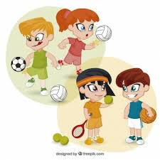 Image result for children exercising copyright free
