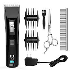 HURRISE Pet Grooming Kits <b>LCD Cordless</b> Quiet Pet <b>Hair</b> Clippers ...