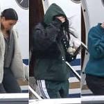 Kim, Kourtney & Kendall Fly to Cleveland to Support New Mom Khloé Kardashian Amid Cheating Drama