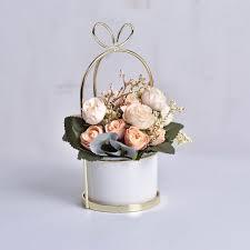 HOT SALE <b>Fleshy Flower Pot Bird</b> Round Frame Ceramic Flower ...
