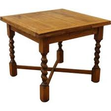 english oak pub table: antique dining table barley twist draw leaf english oak pub table