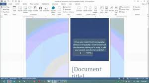 7 how to make cover page in ms word 2013 for design purpose