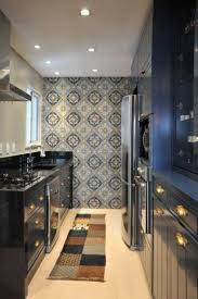 Contemporary Galley Kitchen Latest Dp Kerrie Kelly White Contemporary Galley Style Pop Of