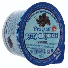 Масса творожная Рузское молоко Рузская с изюмом 10% 175 г ...