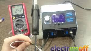 <b>Паяльная станция YIHUA</b> 992D+ видео обзор от Electronoff ...