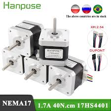 Free shipping 5pcs 4 lead <b>Nema17 40mm</b> non captive <b>Stepper</b> ...
